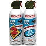 MAXELL 190026 - CA4 Blast Away Canned Air (2 pk) Home, garden & living by Maxell (Blast Air)