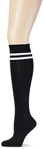 Urban Classics Damen Kniestrümpfe Ladies College Socks, Mehrfarbig (Blk/Wht 50), 37/38 (Herstellergröße: 36-39)