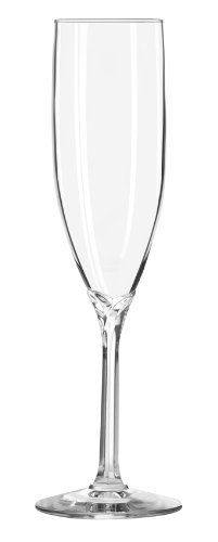 Libbey 6-Ounce Clear Domaine Champagne Flute Glass, Set of 12 8995