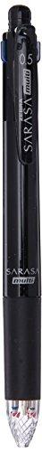Zebra Multi Function Sarasa 4+S Black/Red/Blue/Green Ink 0.5mm Ballpoint Pen, 0.5mm Mechanical Pencil, Black Body