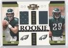 Kevin Kolb; Tony Hunt; Kimo von Oelhoffen #11/500 Kimo von Oelhoffen (Football Card) 2007 Donruss Threads - Rookie Collection Combo Materials (Kimo Collection)