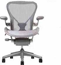 Aeron Chair by Herman Miller - Home Office Desk Task Chair Fully Loaded Highly Adjustable Large Size (C) - PostureFit Lumbar Back Support Cushion Titanium Smoke Frame Classic Zinc Pellicle - Aeron Classic Frame