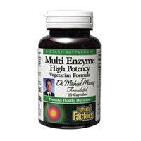 Natural Factors Dr. M. Murray, Multi Enzyme High Potency, Veg-Capsules, 60-Count
