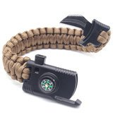 Survival The Fittest Watch Bracelet Camping & Hiking Tool - 4 1 Bracelet Outdoor Emergency 7 Core Paracord Whistle Compass Kit - Selection Bangle Natural Watchband Endurance Wristband - 1PCs