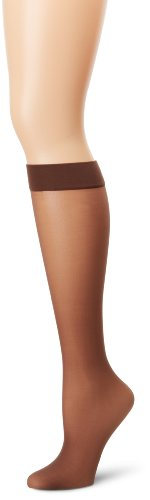 Hanes Silk Reflections Women's Knee High With No Slip Band, Gentlbrown, One Size -