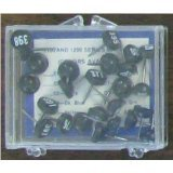 Numbered Map Tacks - Black Pins with White Numbers (4 Boxes of 25: Numbers 101-200)