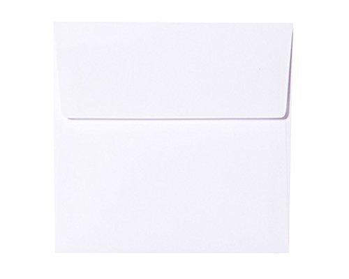 Farbe:Polar Wei/ß sehr gute Qualit/ät Karten24Plus Quadratische 25 Briefumschl/äge 160 x 160 mm 16 x 16 cm Querlasche mit Abziehstreifen 100g