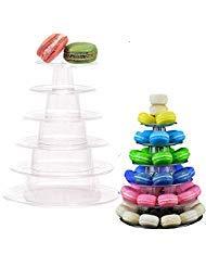 Velidy 6 Tiers Round Macaron Tower Stand Cake Display Rack for Wedding Birthday -