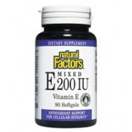 Natural Factors Vitamine E mélangées (D-alpha-tocophérol) Capsules 200IU, 90-Count