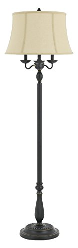 150W 6 Way Barnwell Metal/Resin Floor Lamp