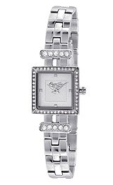 Kenneth Cole New York Women's KC4965 Classic Triple Silver Square Analog Bracelet Watch