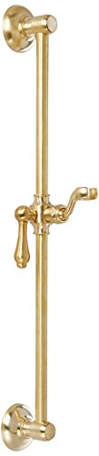 Jaclo 7724-SG Retro Handshower Slide Bar with Jaylen Lever Handle, 24'', Satin Gold by Jaclo