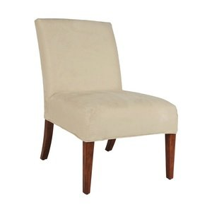 Bailey Street 6081894 Gabrielle - Slipper Chair Cover, Dark Walnut Finish with Cream Fabric Shade (Slipper Chair Covers compare prices)