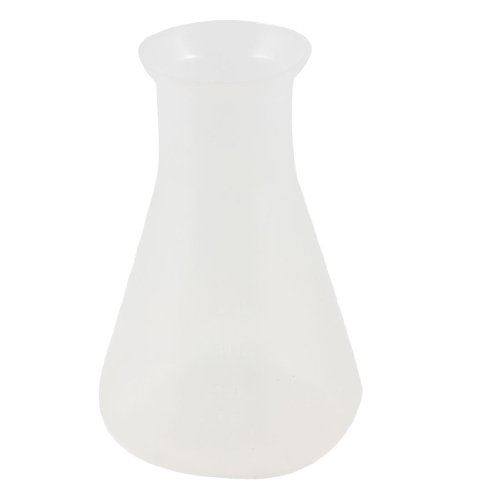 250ml Clear White Laboratory Chemical Plastic Conical Flask Bottle