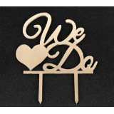 Mirror Gold Acrylic Wedding Cake Topper Party Decoration Cupcake Stand (Mirror Gold - We Do)