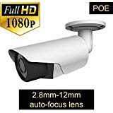 ROMIX TL-E0473H 2.0 MP1080P POE Bullet Security IP Camera with 2.8-12 mm Varifocal Auto Focus Motorized Lens