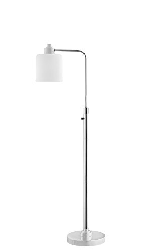 Catalina Lighting 20595-001 Transitional Floor Lamp with White Frost Glass Shade, LED Bulb Included 56.75
