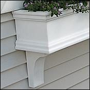 24'' Charleston PVC Window Boxes - No Rot w/ 2 Free Brackets by FlowerWindowBoxes.com