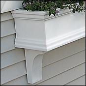 FlowerWindowBoxes.com 30 Charleston PVC Self-Watering Window Box – No Rot w 2 Brackets