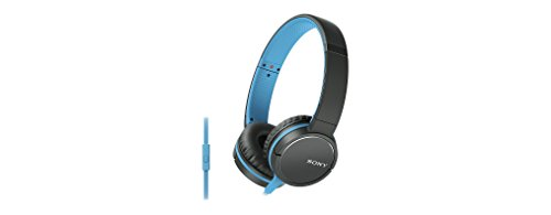 Sony MDR-ZX660AP Lightweight Over-Ear Headphone with Smartphone Control - Blue