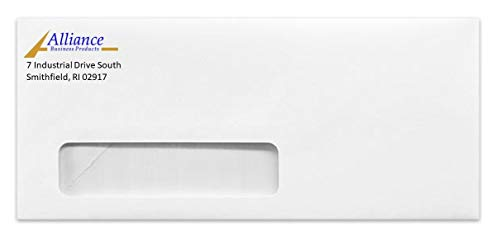 Personalized Custom Color Printed #10 Envelope with Window (1000)