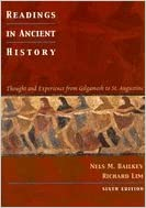 Book Readings In Ancient History- Thought & Experience from Gilgamesh to St. Augustine 6th EDITION