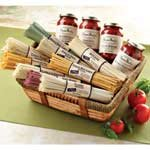 Deluxe Pasta and Sauce Gift Basket Featuring Marinara, Artichoke, Sun-dried Tomato, and Vodka Sauces by Rossi Pasta