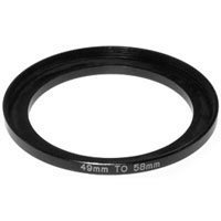 (Adorama Step-Up Adapter Ring 49mm Lens to 58mm Filter Size )