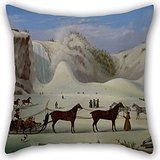 Artistdecor Oil Painting Robert Clow Todd - The Ice Cone, Montmorency Falls, Québec Pillow Covers 20 X 20 Inches / 50 By 50 Cm For Home,seat,family,teens,boy Friend,teens Girls With Each Side