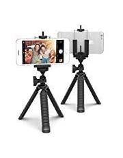 Xenvo Lobsterpod Tripod - Flexible Cell Phone Tripod Stand with Universal Phone Mount Adapter, Compatible with iPhone, Android, Samsung, Google Pixel and Any Smartphone Black