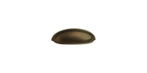 Pull Tumbled Antique Brass (Shallow Cup Pull in Tumbled Antique Brass (Set of 10))