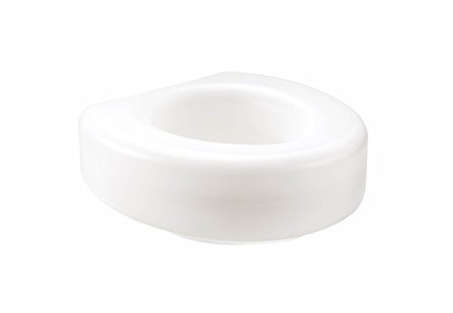 medline MDS80318RW Elevated Toilet Seat (Pack of 3)