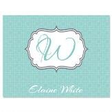 Moda Personalized Note Cards (Set of 12 Cards with White Envelopes)
