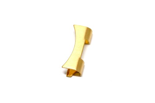 2 PIECES 20MM GOLD STAINLESS STEEL CURVED WATCH BAND ENDS FITS SEIKO & OTHERS