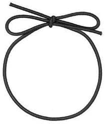 Stretch Loops for Crafts and Easy Gift-Wrapping (8-inch, Black)