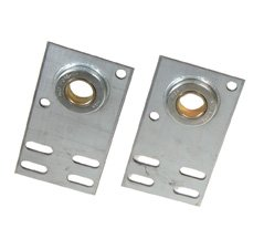 (Pair Garage Door Flat End Bearing Plates 4 3/8 Length 6 5/8