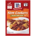 McCormickSlow Cookers Hearty Beef Stew Seasoning Mix (Combines Savory Meat, Vegetables and  Broth to Create Stick-to-Your-Ribs Comfort Food Simmered to Perfection, No Trans Fats), 1.5 oz (Beef Roast Slow Cooker Recipes With Vegetables)