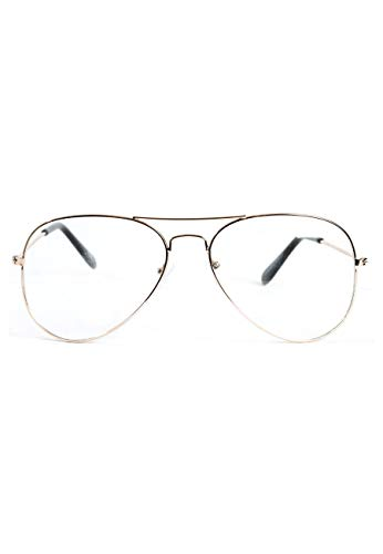 Custom UNISEX AVIATEUR LUNETTES SY2031 OR Or Magic T6RSwqR