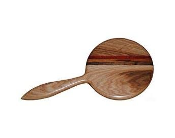 Wisconsinmade Wooden Handheld Mirror, Hickory by Wisconsinmade (Image #1)