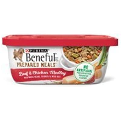 6 Tubs of Purina Beneful Prepared Meals Beef & Chicken Medley Adult Wet Dog Food - 10 oz. ea