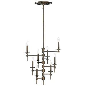- Cyan Lighting 04186 Omega - Eight Light Chandelier, Oiled Bronze Finish