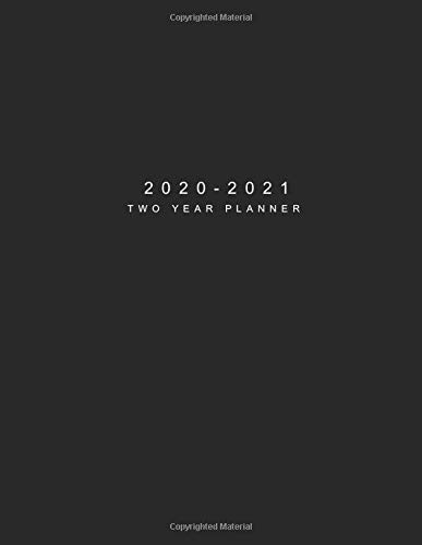 Amazon.com: 2020-2021 Two Year Planner: Black Cover | 24 ...