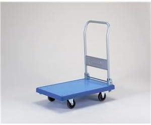 バンパーキャリー/台車 【小 折りたたみ式 4インチ エラストマー車】 自在×2 固定×2 ブルー