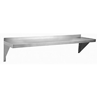 (Royal Industries Wall Shelf, 12'' x 60'', Stainless Steel)