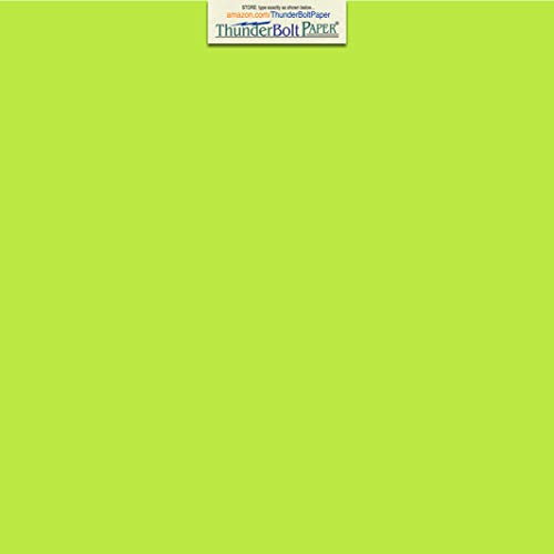 25 Bright Lime Green 65lb Cover|Card Paper - 12 X 12 Inches Scrapbook Album|Cover Size - 65 lb/Pound Light Weight Cardstock - Quality Printable Smooth Surface for Bright Colorful Results (Green Scrapbook Album 12x12)