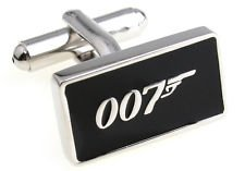 007 Bond Costumes James (Blazers Proforms Costumes one pair of JAMES SQUARE 007 BOND CUFFLINKS Wedding Groom Accessories Bride Father)