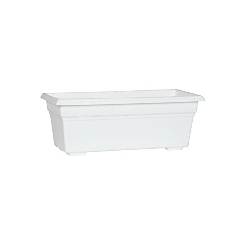 Countryside Flower Box Planter, White, 18-Inch by Novelty