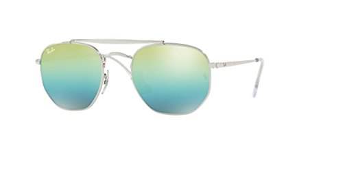 Ray-Ban RB3648 THE MARSHAL 003/I2 51M Silver/Green Blue Mirror Sunglasses For Men For Women