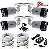 ANNKE 1080P Full HD C/ámara de Seguridad con Cable y C/ámara de Video Vigilancia CCTV 4 en 1 con Sensor PIR Sirena Visi/ón Nocturna en Color