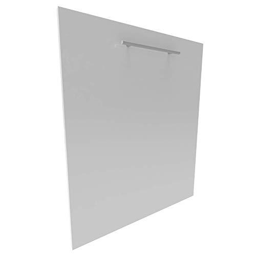 Geschirrspülerfront 19mm voll-, teilintegriert und nach Maß (Weiß (hochglanz), 444x715mm)